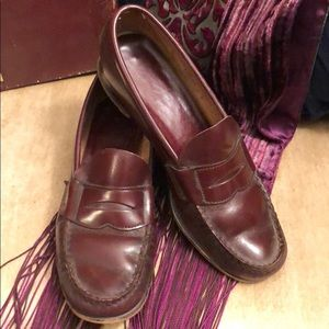 Vintage Trotters Maroon Cherry Red Leather Loafer